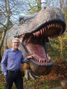Chris with t-rex